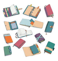 notebook notepad planner organizer sketchbook vector image