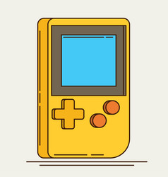 Old gadget flat icon vector