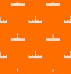 Parliament building of canada pattern seamless vector