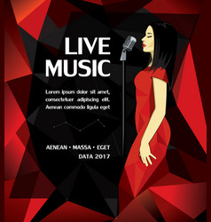 promotional musical performance poster vector image