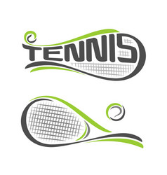 rackets of lawn tennis vector image