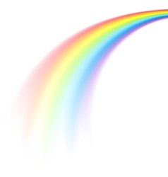 rainbow comet vector image vector image