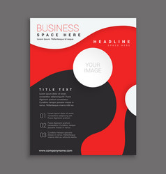 Red and black corporate business brochure vector