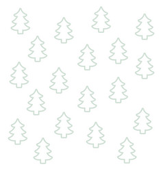 Seamless pattern pine tree christmas silhouette vector