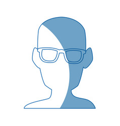 silhouette man head wear glasses vector image vector image