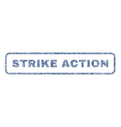 Strike action textile stamp vector