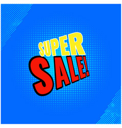 Super sale blue background image vector
