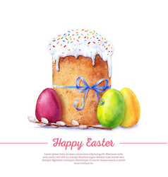 watercolor easter cake vector image