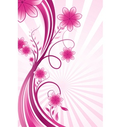 wavy floral background vector image
