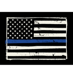 Police Support Flag Grunge Hand Drawn vector image