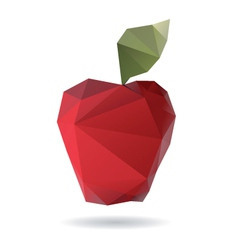 Apple abstract isolated on a white backgrounds vector