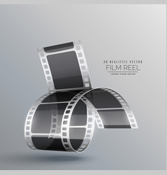 Modern background with 3d realistic film strip vector