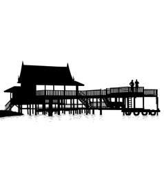 Water terrace vector image