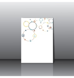 Human concept on the card vector