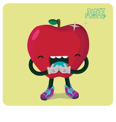 Red apple character isolated vector