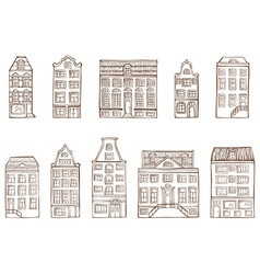 Sketch houses vector