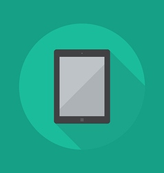 Technology flat icon tablet vector
