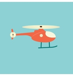 Red helicopter vector