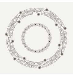 ornamental frame in the Celtic style vector image