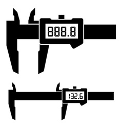 Lcd electronic digital caliper micrometer gauge vector