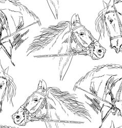 black horse silhouettes vector image