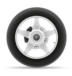 Motorcycle wheel 01 vector