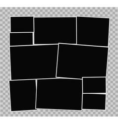 Photo frames album vector