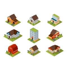 Isometric house vector image