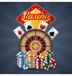 Casino design game icon colorfull vector
