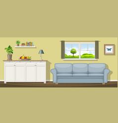 A classic living room vector