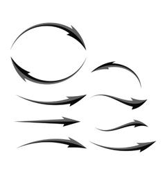 Abstract arrow icon template vector