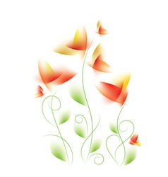 Abstract floral design vector