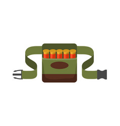 bandolier for hunter vector image
