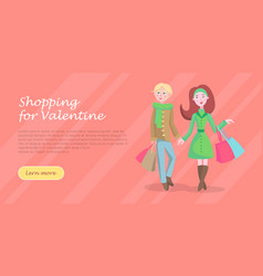 Beautiful woman shopping cartoon flat icon vector