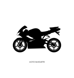 Black silhouette of a sports bike vector image vector image