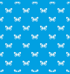 Butterfly pattern seamless blue vector