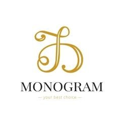 elegant hand lettered D letter monogram vector image vector image