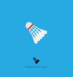 flat icon badminton game vector image