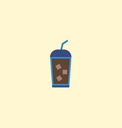 flat icon iced drink element vector image vector image