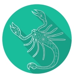 Flat icon of zodiac sign Scorpio vector image vector image