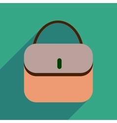 Flat icon with long shadow clutch bag vector