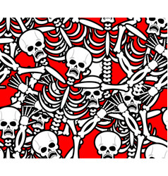 hell seamless pattern skeleton in sinners vector image vector image