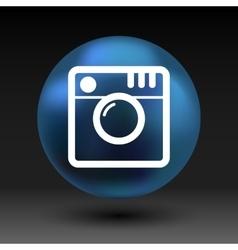 Hipster photo camera icon photo camera pictogram vector
