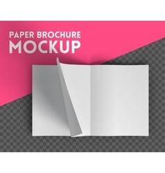 Magazine mockup on transparent background vector