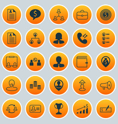 Management icons set collection of team structure vector