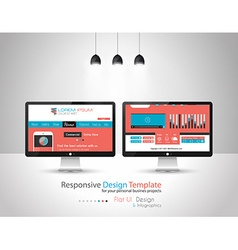 Modern Flat Style UI interface designs vector image vector image