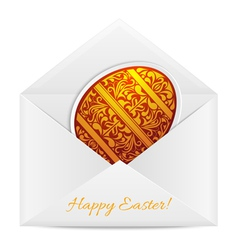 Paper envelope with a Easter Egg vector image vector image