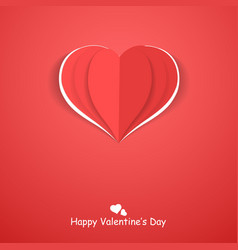 paper origami heart happy valentines day vector image