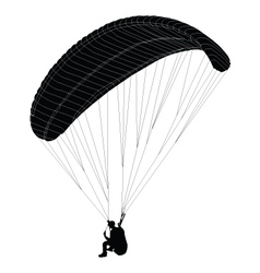 paragliding - vector image vector image