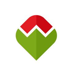 Poppy logo red flower emblem symbol flower shop vector